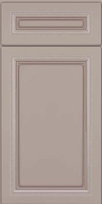 Square Recessed Panel - Veneer (CTM) Maple in Pebble Grey w/ Cocoa Glaze - Base