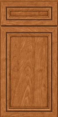 Square Recessed Panel - Veneer (CTM) Maple in Praline w/Mocha Highlight - Base