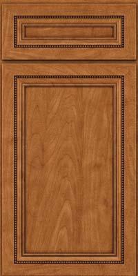 Square Recessed Panel - Veneer (CTM) Maple in Praline w/Onyx Glaze - Base