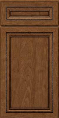 Square Recessed Panel - Veneer (CTM) Maple in Rye w/Onyx Glaze - Base