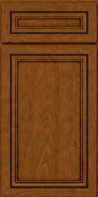 Square Recessed Panel - Veneer (CTM) Maple in Rye w/Sable Glaze - Base