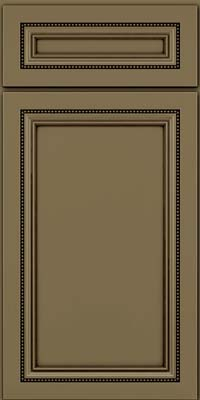 Square Recessed Panel - Veneer (CTM) Maple in Sage w/Cocoa Glaze - Base