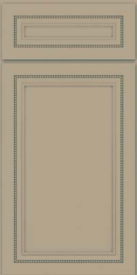 Square Recessed Panel - Veneer (CTM) Maple in Willow w/ Cinder Glaze - Base