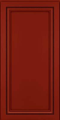 Square Recessed Panel - Veneer (CTM) Maple in Cardinal w/Onyx Glaze - Wall