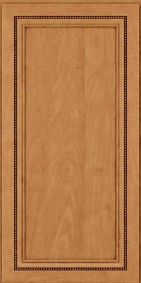 Square Recessed Panel - Veneer (CTM) Maple in Ginger w/Sable Glaze - Wall