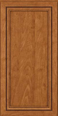 Square Recessed Panel - Veneer (CTM) Maple in Praline w/Onyx Glaze - Wall