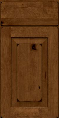 Square Raised Panel - Solid (DAB) Rustic Birch in Burnished Ginger - Base