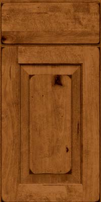 Square Raised Panel - Solid (DAB) Rustic Birch in Burnished Praline - Base