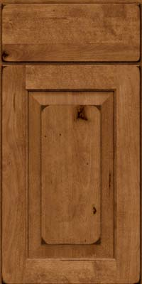 Square Raised Panel - Solid (DAB) Rustic Birch in Burnished Rye - Base