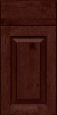Square Raised Panel - Solid (DAB) Rustic Birch in Cabernet - Base