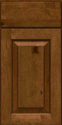 Square Raised Panel - Solid (DAB) Rustic Birch in Chocolate - Base