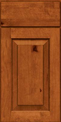 Square Raised Panel - Solid (DAB) Rustic Birch in Cinnamon - Base