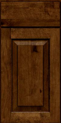 Square Raised Panel - Solid (DAB) Rustic Birch in Cognac - Base