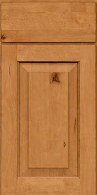 Square Raised Panel - Solid (DAB) Rustic Birch in Honey Spice - Base
