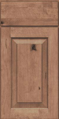Square Raised Panel - Solid (DAB) Rustic Birch in Husk Suede - Base