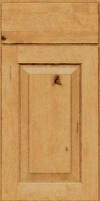 Square Raised Panel - Solid (DAB) Rustic Birch in Natural - Base