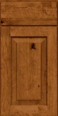 Square Raised Panel - Solid (DAB) Rustic Birch in Praline - Base