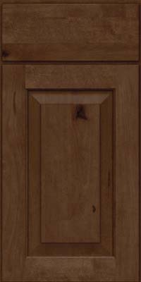 Square Raised Panel - Solid (DAB) Rustic Birch in Saddle Suede - Base