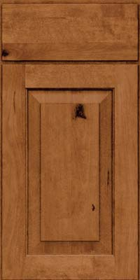 Square Raised Panel - Solid (DAB) Rustic Birch in Toffee - Base
