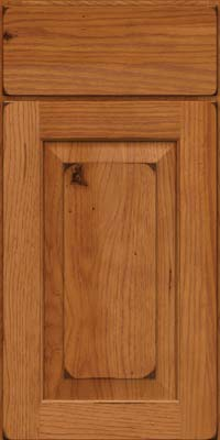 Square Raised Panel - Solid (DAH) Rustic Hickory in Burnished Praline - Base