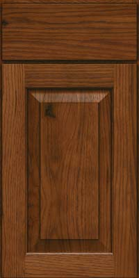 Square Raised Panel - Solid (DAH) Rustic Hickory in Cognac - Base