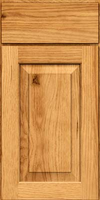 Square Raised Panel - Solid (DAH) Rustic Hickory in Honey Spice - Base