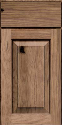 Square Raised Panel - Solid (DAH) Rustic Hickory in Husk - Base
