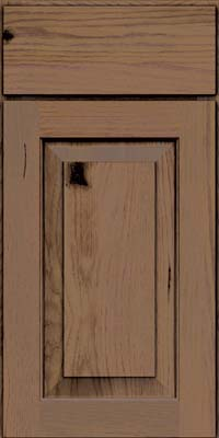 Square Raised Panel - Solid (DAH) Rustic Hickory in Husk Suede - Base