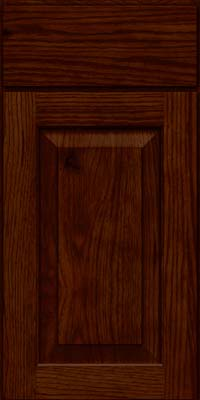 Square Raised Panel - Solid (DAH) Rustic Hickory in Kaffe - Base