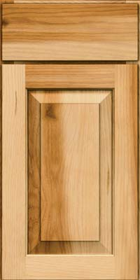 Square Raised Panel - Solid (DAH) Rustic Hickory in Natural - Base