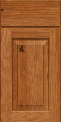 Square Raised Panel - Solid (DAH) Rustic Hickory in Praline - Base