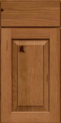 Square Raised Panel - Solid (DAH) Rustic Hickory in Rye - Base