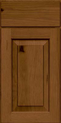 Square Raised Panel - Solid (DAH) Rustic Hickory in Rye w/Sable Glaze - Base