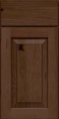 Square Raised Panel - Solid (DAH) Rustic Hickory in Saddle Suede - Base