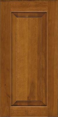 Square Raised Panel - Solid (DAB) Birch in Golden Lager - Wall