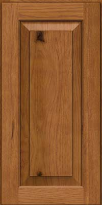 Square Raised Panel - Solid (DAH) Hickory in Golden Lager - Wall