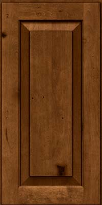 Square Raised Panel - Solid (DAB) Rustic Birch in Antique Chocolate w/Mocha Glaze - Wall