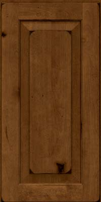 Square Raised Panel - Solid (DAB) Rustic Birch in Burnished Ginger - Wall