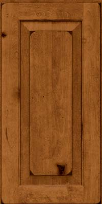 Square Raised Panel - Solid (DAB) Rustic Birch in Burnished Praline - Wall