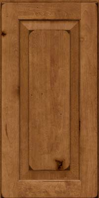 Square Raised Panel - Solid (DAB) Rustic Birch in Burnished Rye - Wall