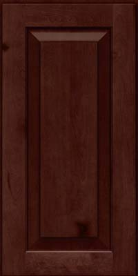 Square Raised Panel - Solid (DAB) Rustic Birch in Cabernet - Wall