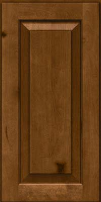 Square Raised Panel - Solid (DAB) Rustic Birch in Chocolate - Wall