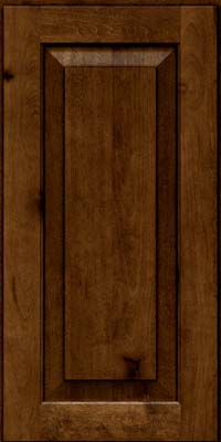 Square Raised Panel - Solid (DAB) Rustic Birch in Cognac - Wall