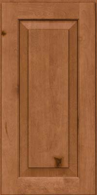 Square Raised Panel - Solid (DAB) Rustic Birch in Ginger w/Sable Glaze - Wall
