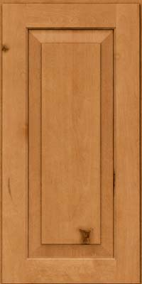 Square Raised Panel - Solid (DAB) Rustic Birch in Honey Spice - Wall