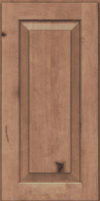 Square Raised Panel - Solid (DAB) Rustic Birch in Husk Suede - Wall