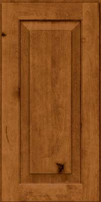 Square Raised Panel - Solid (DAB) Rustic Birch in Praline - Wall