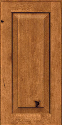 Square Raised Panel - Solid (DAB) Rustic Birch in Praline w/Onyx Glaze - Wall