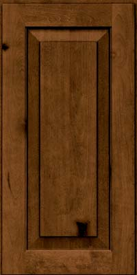 Square Raised Panel - Solid (DAB) Rustic Birch in Rye w/Sable Glaze - Wall