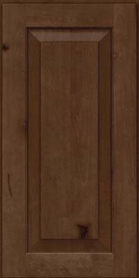 Square Raised Panel - Solid (DAB) Rustic Birch in Saddle Suede - Wall